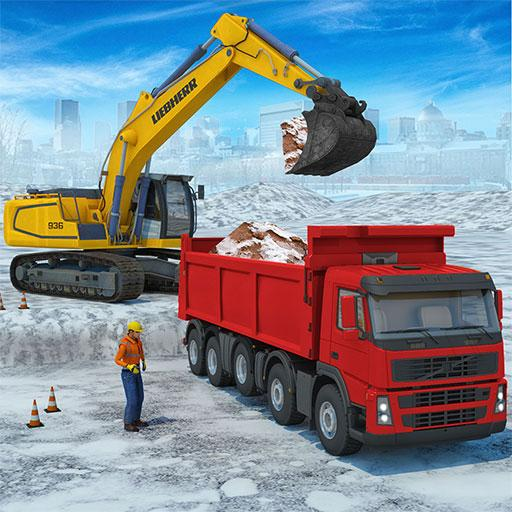 Snow excavator road construction games 2020 Mod Apk 1.4 Unlimited money for android