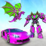 New Dragon Robot Car Game Robot Transforming Games 1.6 Mod Apk(unlimited money) download